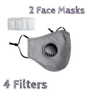Accessories - 💥DEAL💥 2 Washable Grey Face Covers 4 Filters